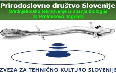 Šolsko tekmovanje iz znanja biologije za Proteusovo nagrado