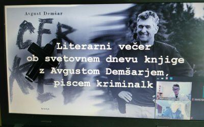 Literarni večer s slovenskim piscem kriminalk Avgustom Demšarjem